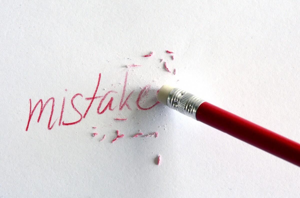 errores en el trabajo