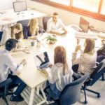 Trabajo en equipo empresarial: una estrella de cinco puntas